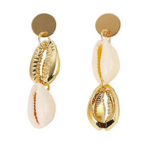Camila Gold and Shell Earrings