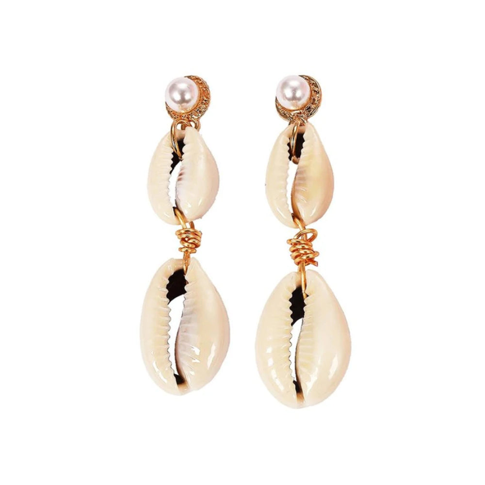 Coast Pearl and Shell Earrings