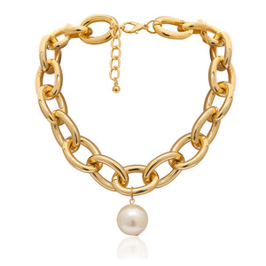 Daniella Gold and Pearl Necklace