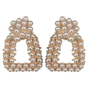 Eliza Gold Pearl Earrings