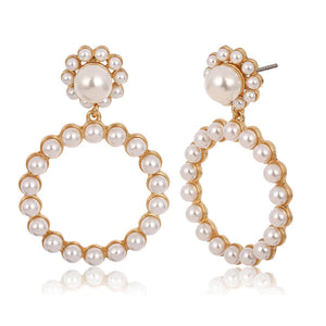Eloise Pearl and Gold Earrings