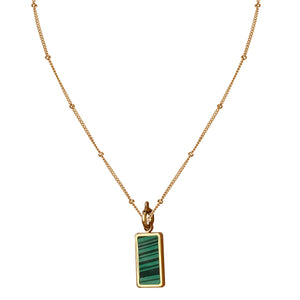 Forrest Green Malachite Charm Necklace