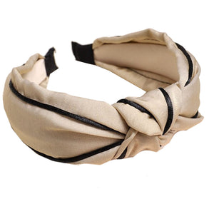 Harper Satin Knotted Headband
