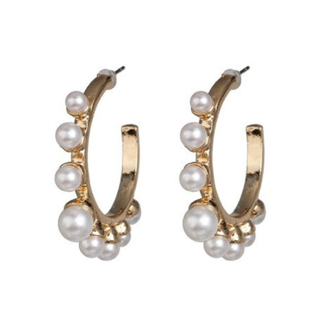 Hayden Pearl Hoop Earrings