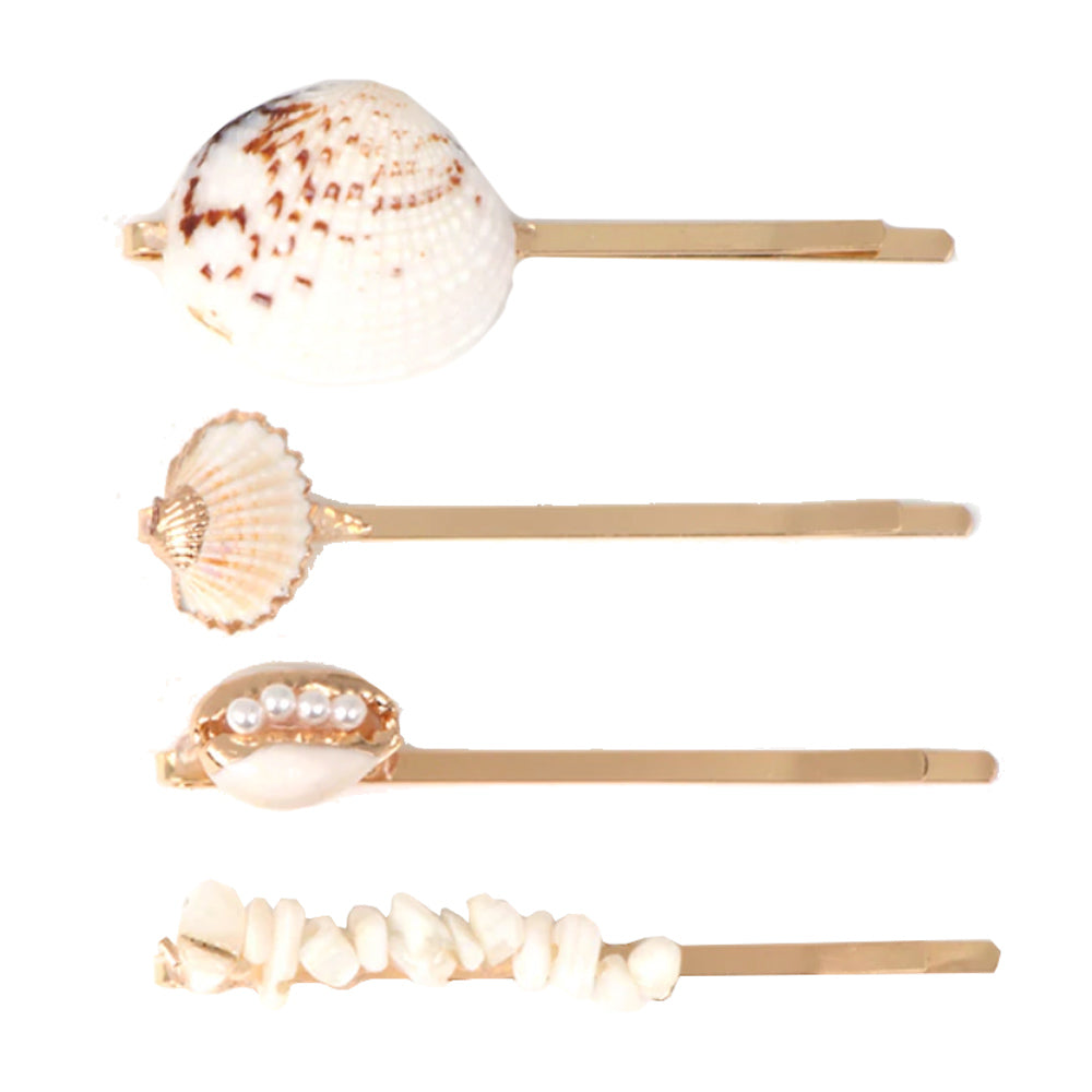 Hayman Pearl and Shell Hair Slide Set
