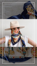 Load image into Gallery viewer, Navy Face Scarf