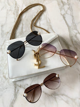 Load image into Gallery viewer, Holiday Pink Pearl Sunglasses