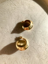 Load image into Gallery viewer, Dune Gold Huggie Earrings