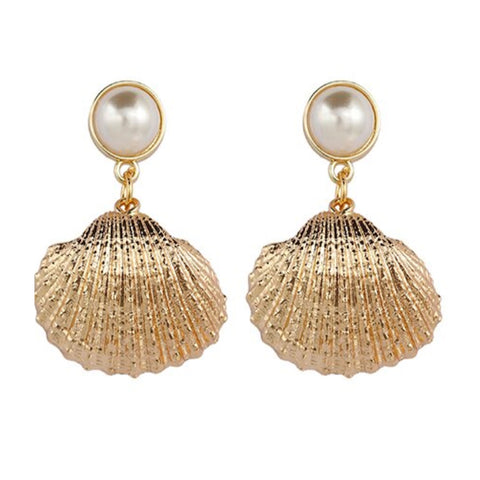 Isla Shell and Pearl Earrings