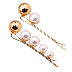 Isobel Gold Pearl Hair Slide Duo