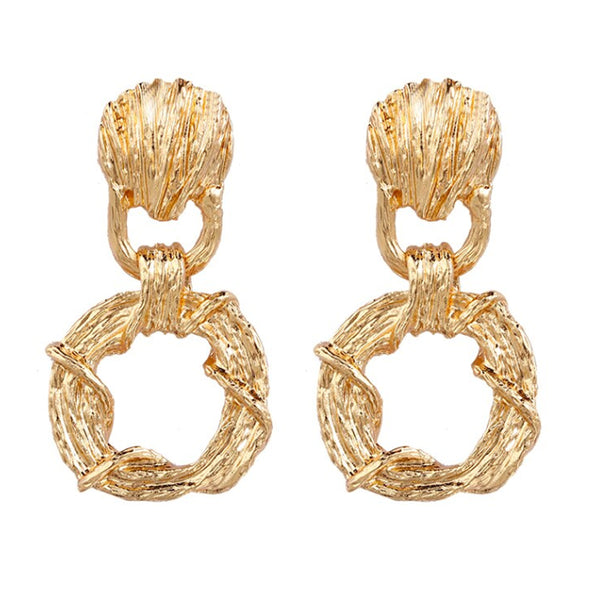 Jade Gold Earrings