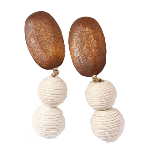 Jemima Wooden Earrings