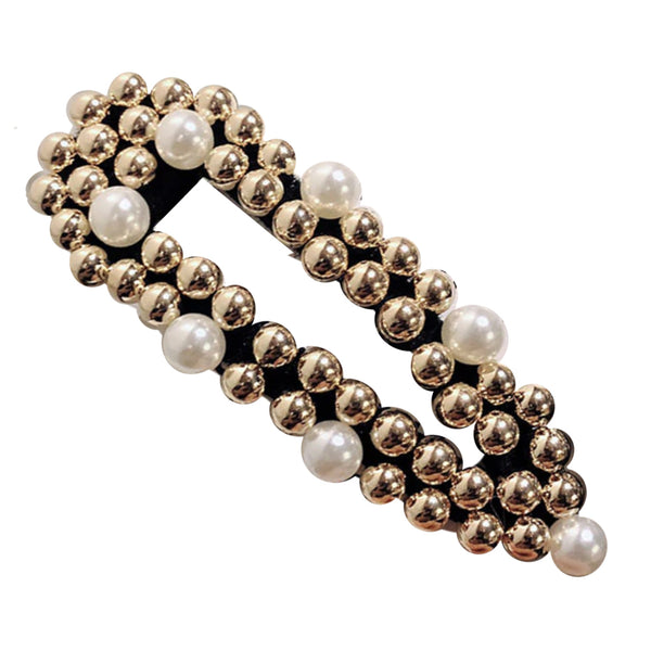 Laura Statement Pearl and Gold Hair Clip