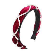 Load image into Gallery viewer, Lucy Berry Velvet and Pearl Headband