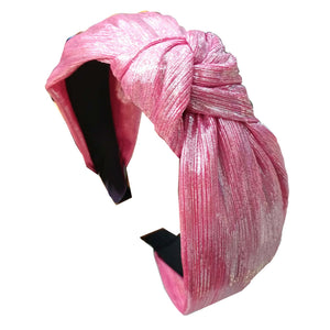 Luna Pink Shiny Knotted Headband
