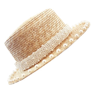 Marion Pearl and Straw Hat