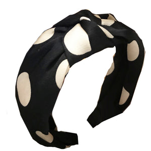 Mia Black Polka Dot Headband