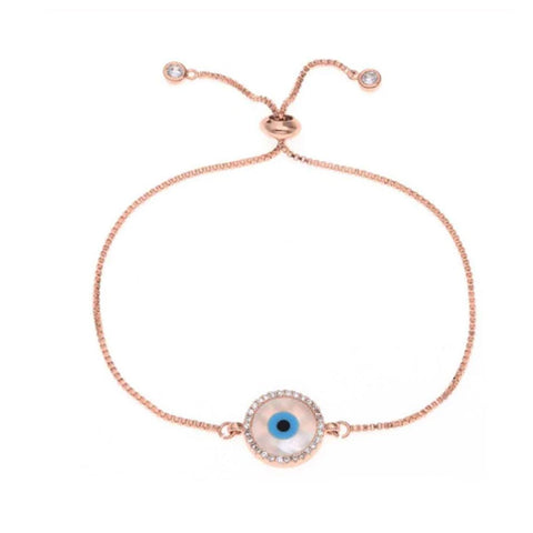 Nazar Rose Gold Evil Eye Bracelet