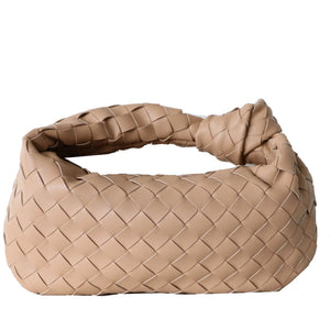 Nude Woven Leather Bag