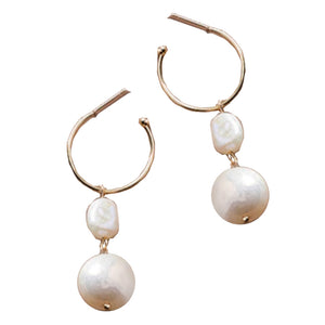 Plancha Gold Pearl Earrings