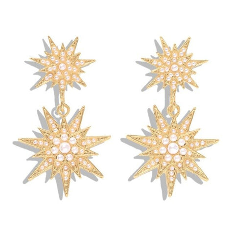 Rebeca Nude Star Earrings