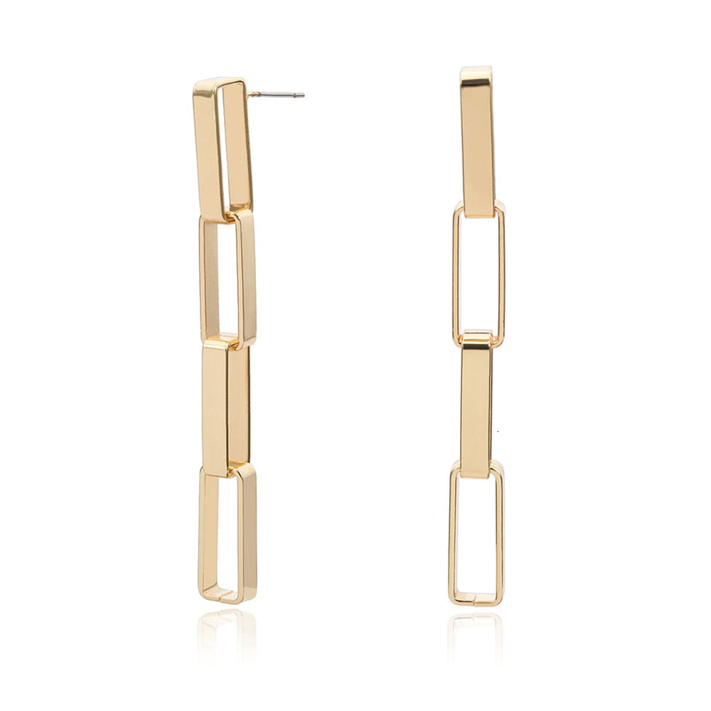 Sara Gold Chain Link Earrings