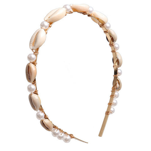 Sicily Pearl and Shell Headband