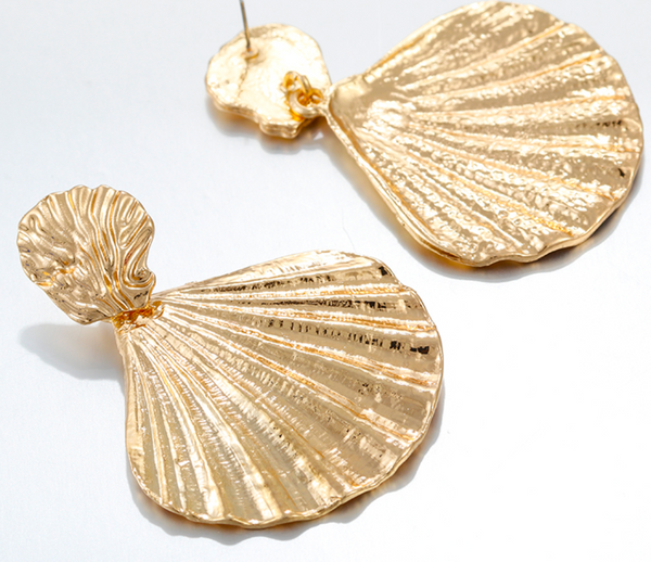 Renata Gold Shell Earrings
