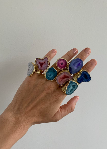 Renata Oversized Stone Cocktail Ring