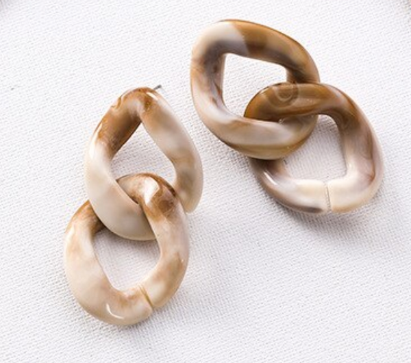 Tulia Smokey Resin Earrings