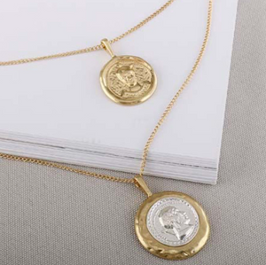 Julius Gold Coin Layered Necklace