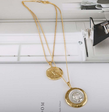 Load image into Gallery viewer, Julius Gold Coin Layered Necklace