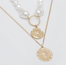Load image into Gallery viewer, August Pearl and Gold Necklace