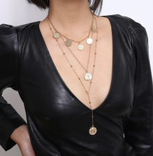Load image into Gallery viewer, Felix Layered Gold Coin Necklace