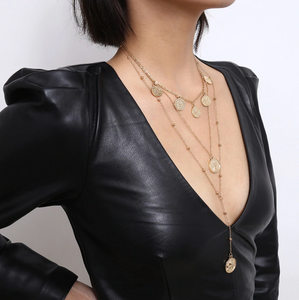 Felix Layered Gold Coin Necklace