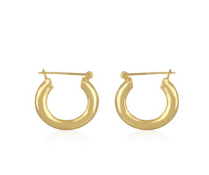 """Jaipur"" Chunky 18K Gold Plated Hoop Earrings - Bon Voyage"