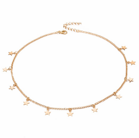 """Starry Nights"" Gold Star Choker - Bon Voyage"
