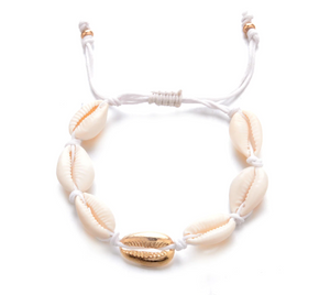 Ocean Cowrie Shell Anklet