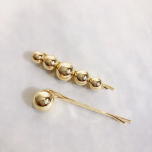 Load image into Gallery viewer, Emma Gold Metal Hair Slide Set