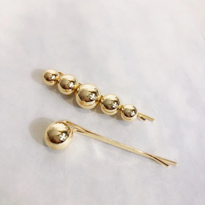 Emma Gold Metal Hair Slide Set
