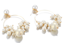 Load image into Gallery viewer, Olivia Pearl and Gold Earrings