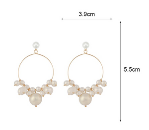 Olivia Pearl and Gold Earrings