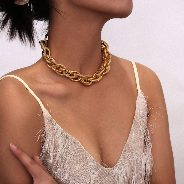 Nikita Gold Chain Link Necklace