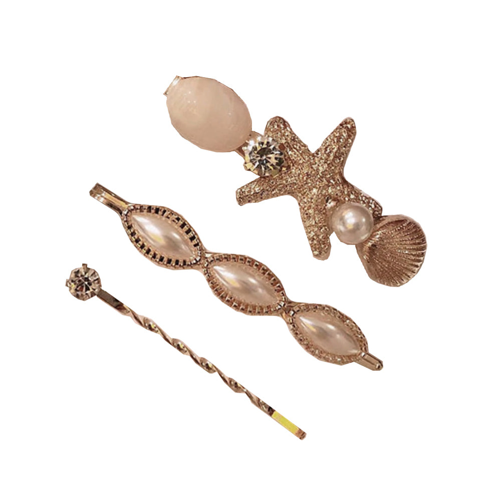 Starfish Gold Hair Clip Set