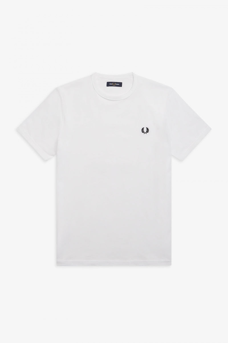 FRED PERRY-TEE SHIRT WHITE