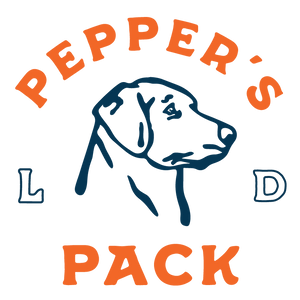 Pepper's Pack LD Logo.  Picture of a dog