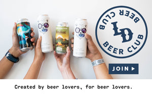 Picture of hands holding cans of beer.  LD Beer Club.  Created by beer lovers, for beer lovers.  Click to join.