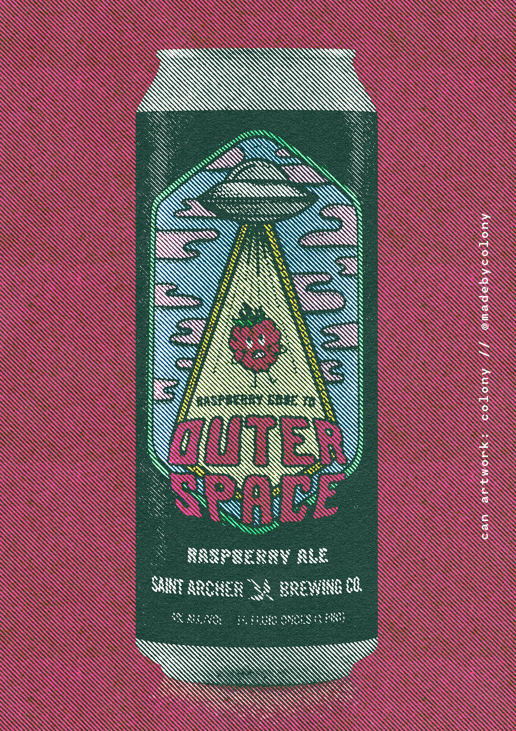 Raspberry Gose to Space by Saint Archer Brewing Company