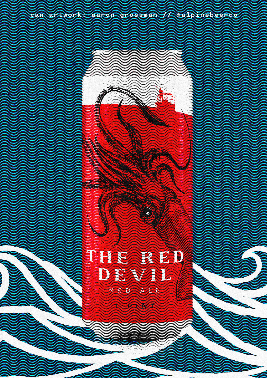 the red devil ale by Alpine Beer Company