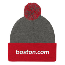 Load image into Gallery viewer, Boston.com Pom Pom Knit Cap